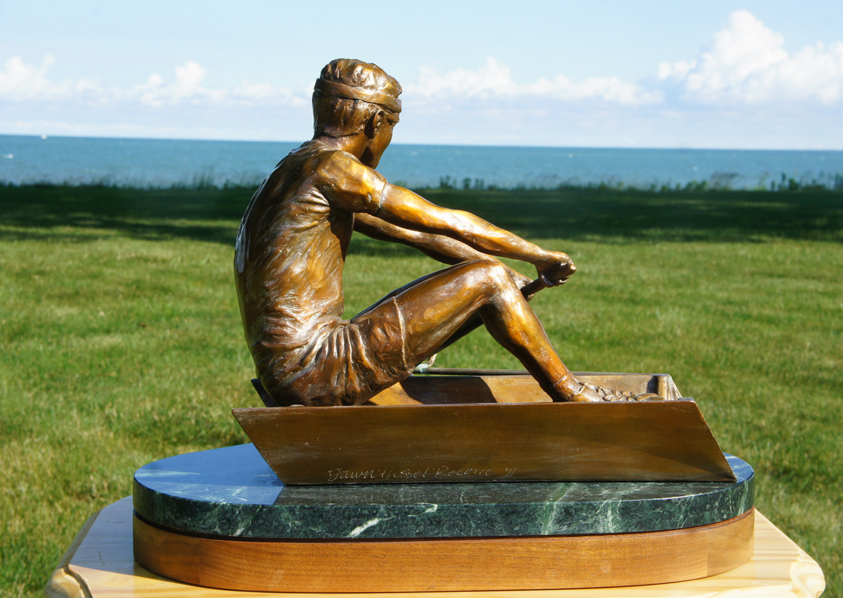 Rower sculpture, right side