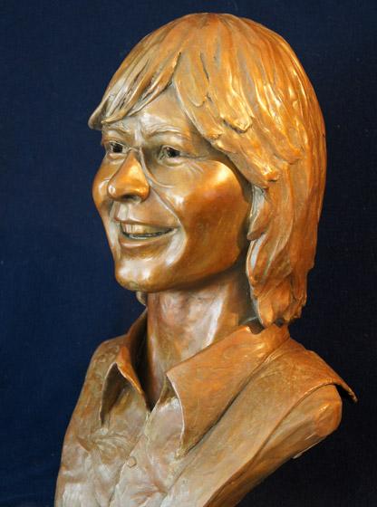 John Denver sculpture, left side