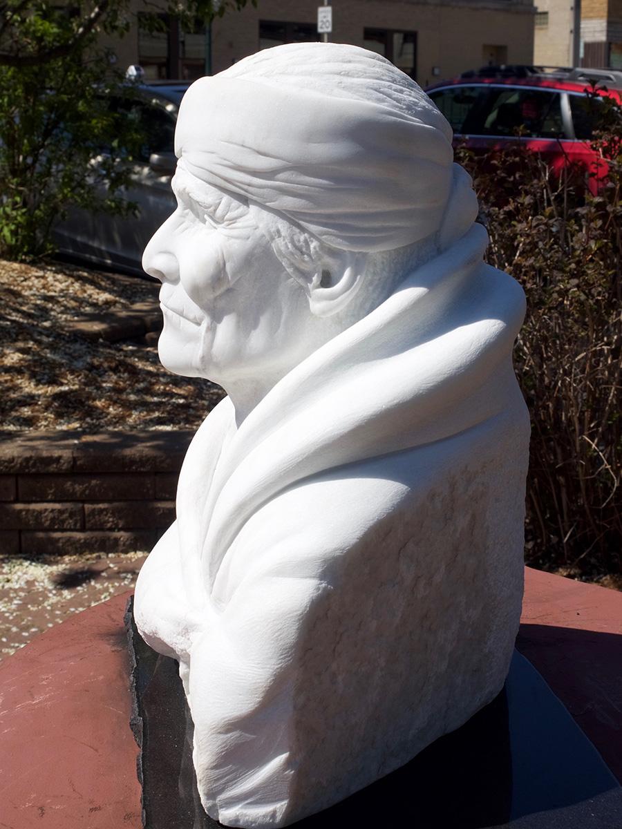 Old Geronimo sculpture, left side