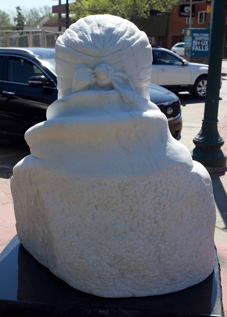 Old Geronimo sculpture, detail from behind